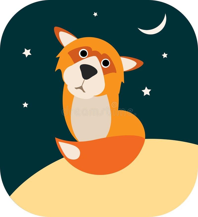 Vector sad fox stock photos