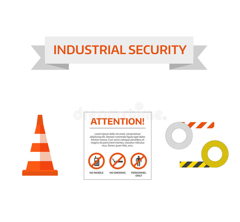 Vector safety first road sign Under Construction Sign Collection royalty free illustration