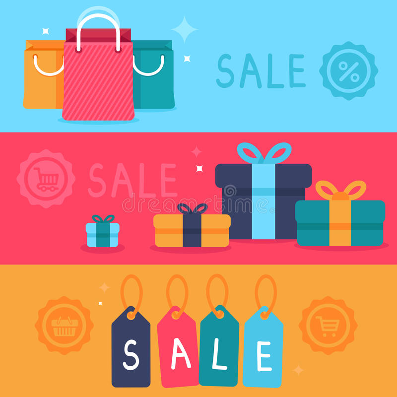 Vector sale concept in flat style vector illustration