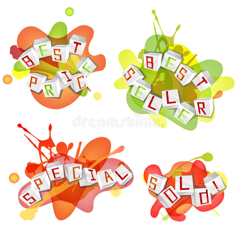 Download Vector Sale Design Elements Stock Vector - Image: 34383739