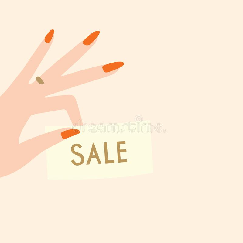 Vector sale discount template stock image