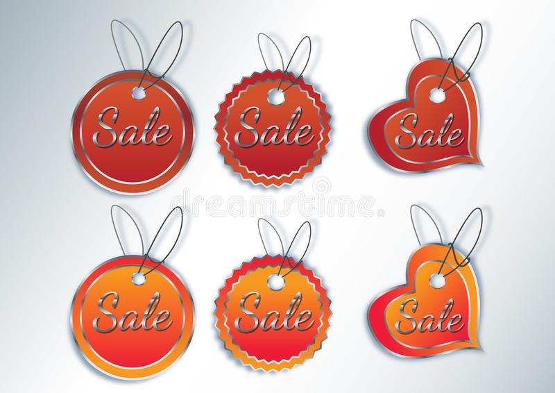 Download Vector Sale Stickers And Labels. Stock Vector - Image: 24790690