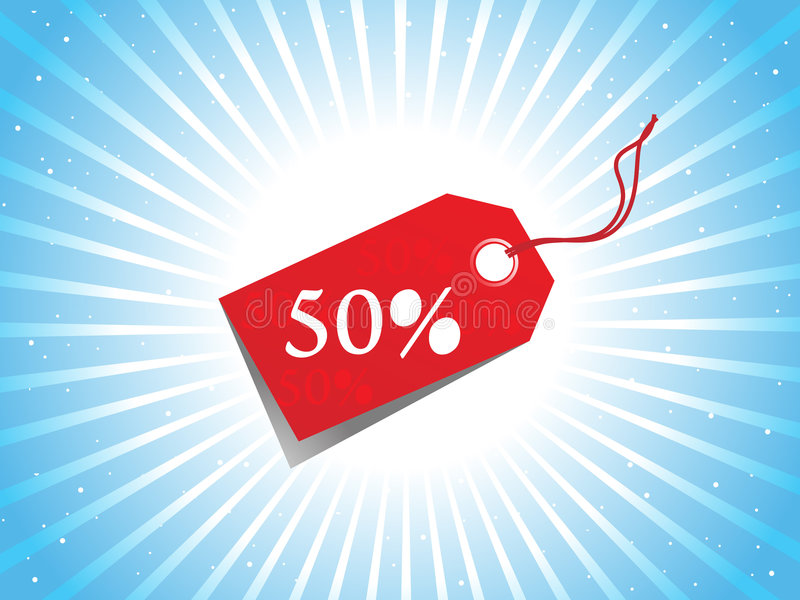 Vector - sale tag with discount and background royalty free illustration