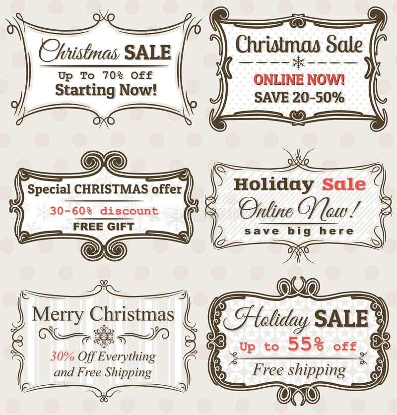 Vector Sale Tags. Set of special sale offer labels and banners , vector