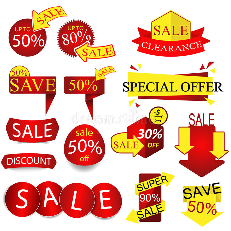 Vector Sale Tags ,Labels. royalty free stock photo