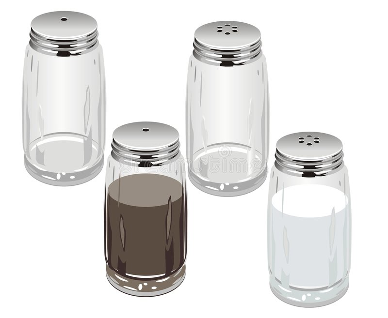 Vector salt & pepper shakers royalty free illustration