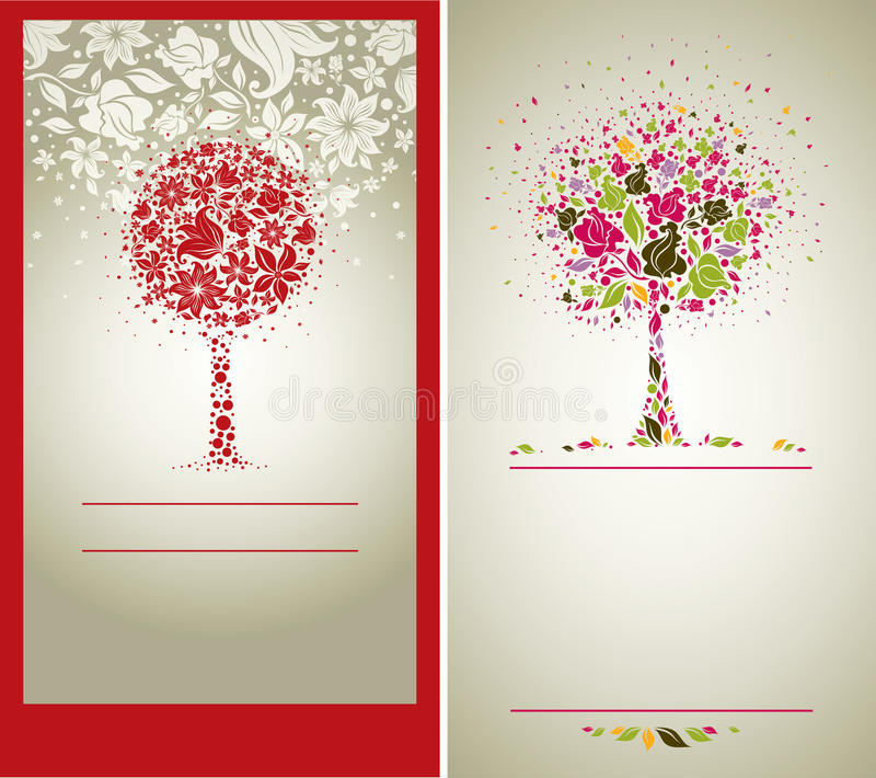 Download Vector Sample Of Design With Tree From Flowers Stock Vector - Image: 16067457