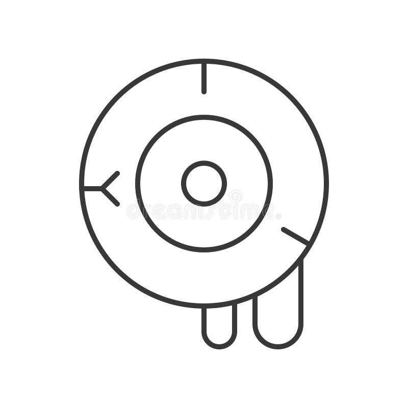 Vector sangriento del globo del ojo, movimiento editable del icono de Halloween ilustración del vector