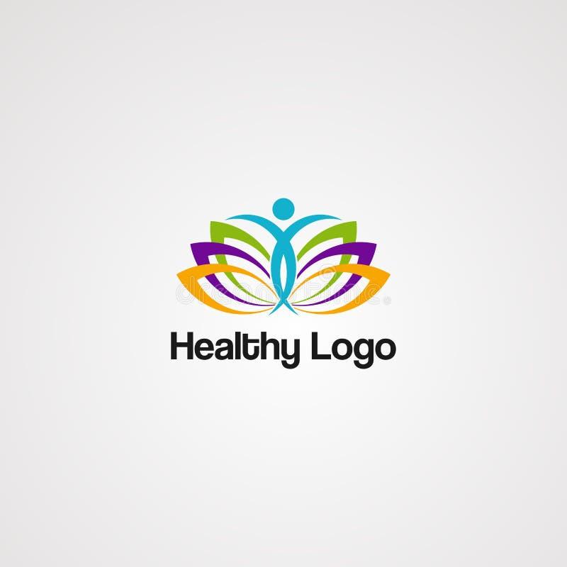 Vector sano del logotipo, icono, elemento, plantilla para la compañía ilustración del vector