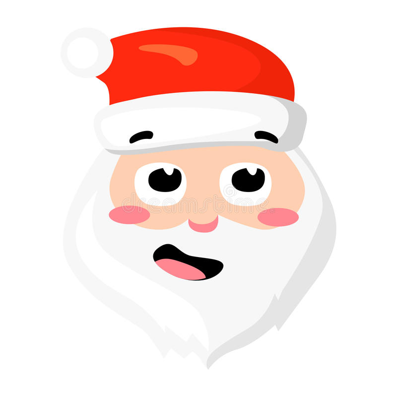 Vector of Santa Claus isolated on white. Cartoon style. Cute funny christmas icon. illustration. vector illustration