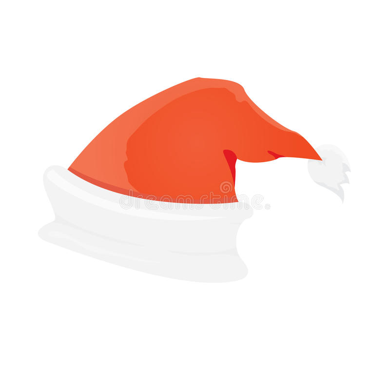 Vector Santa Claus red hat isolated on white royalty free illustration