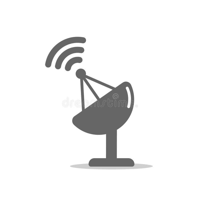 Vector satellite dish icon. vector icon on white background stock illustration