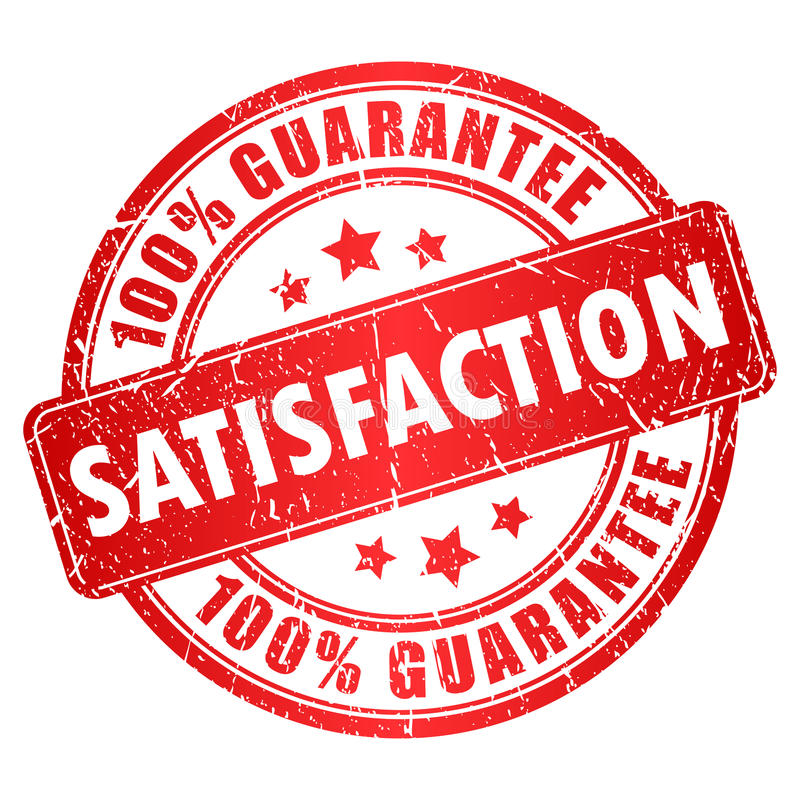 Vector satisfaction stamp stock illustration