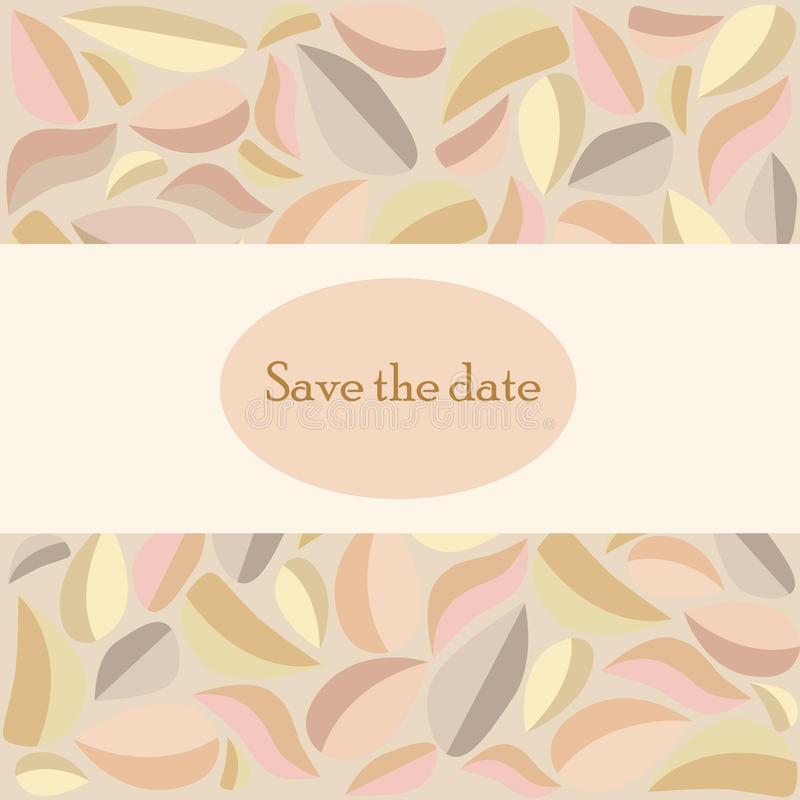 Vector Save the Date Ornate Frame. stock photo