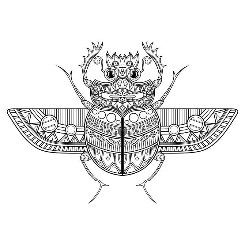 Vector Scarab Beetle. Ancient Egypt stock illustration