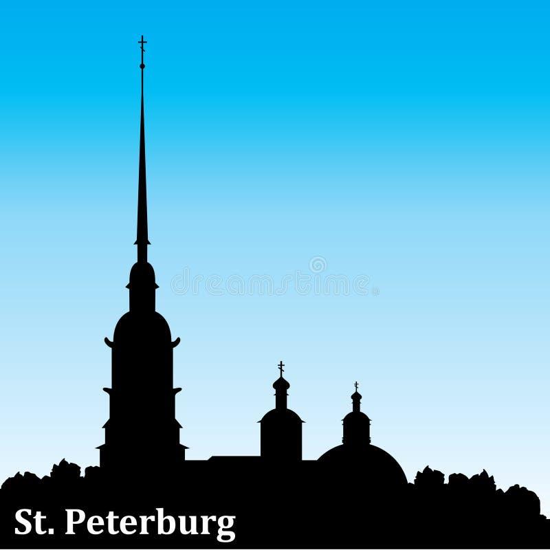Petersburg-Schattenbild lizenzfreie abbildung