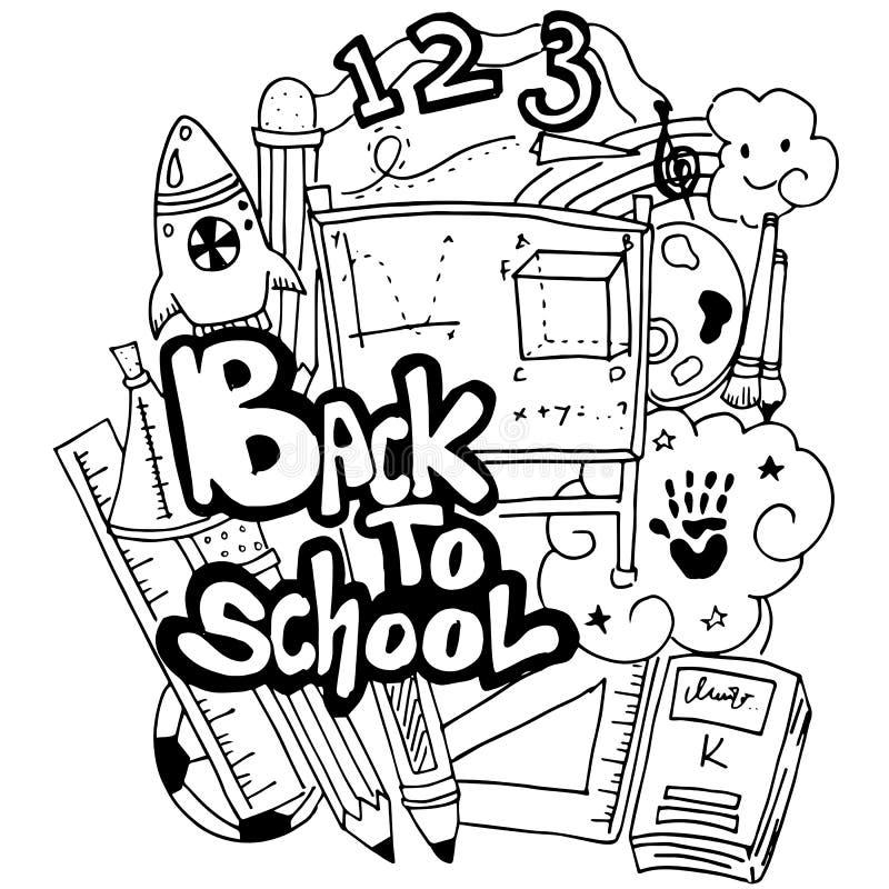 Vector School Education Doodle Art Stock Vector - Illustration of ...