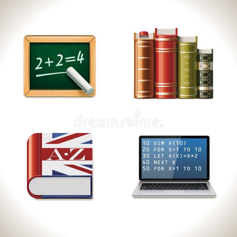 Vector school icons. Part 2 vector illustration