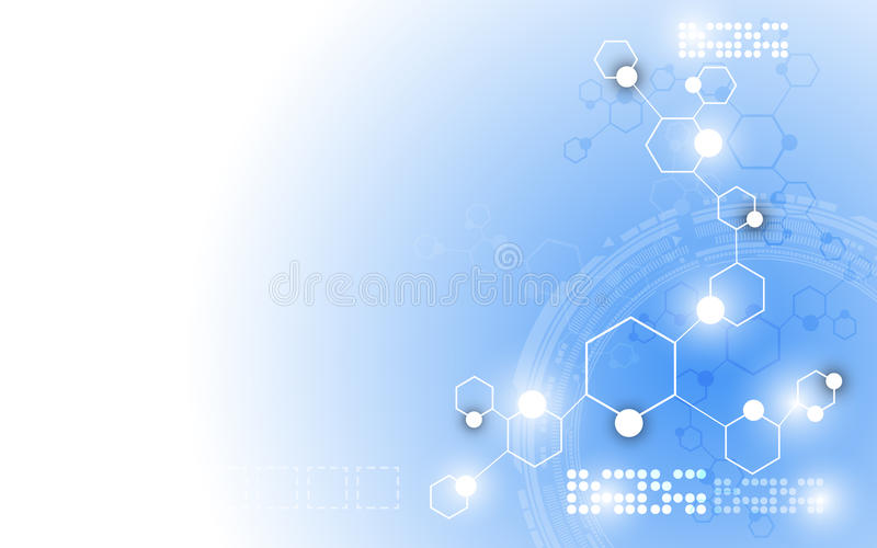 Vector science innovation abstract background royalty free illustration