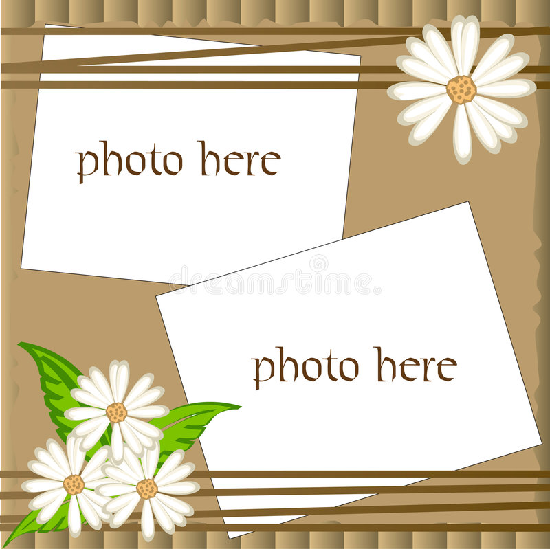 Vector scrapbooking frame with camomile vector illustration