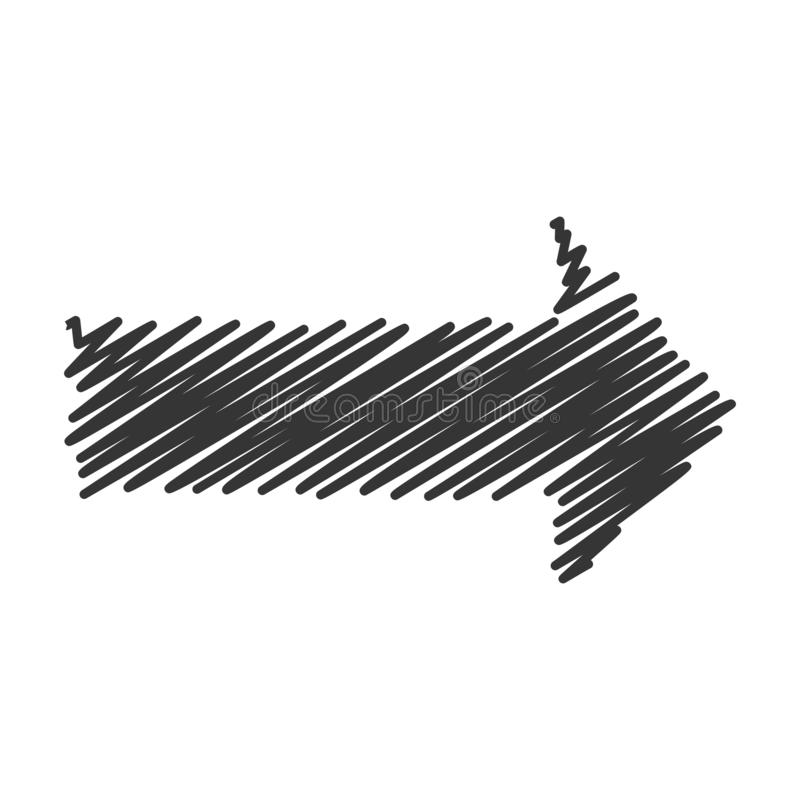 Free Vector Scribble Arrow Isolated Royalty Free Stock Image - 163719746