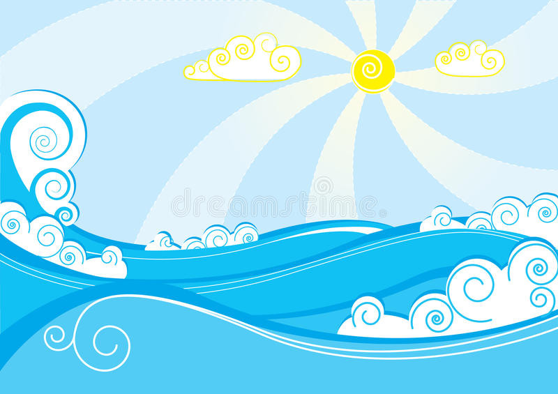 Vector sea stock images