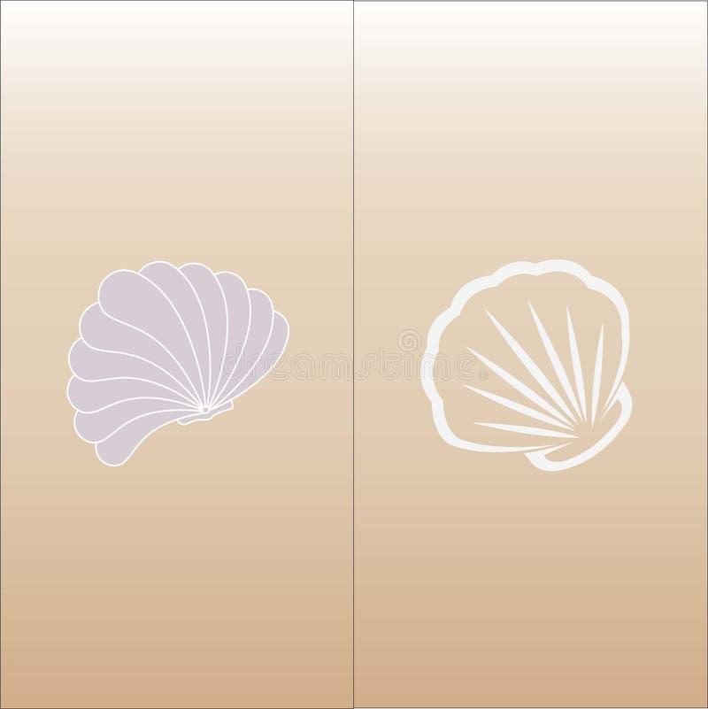Vector with sea shells. vector illustration