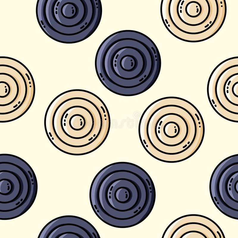 Vector seamles pattern with circles in retro colors. Vector seamles pattern with circles stock illustration
