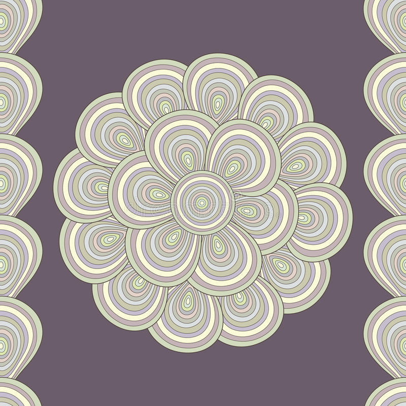 Vector seamless abstract background with shells stock illustration