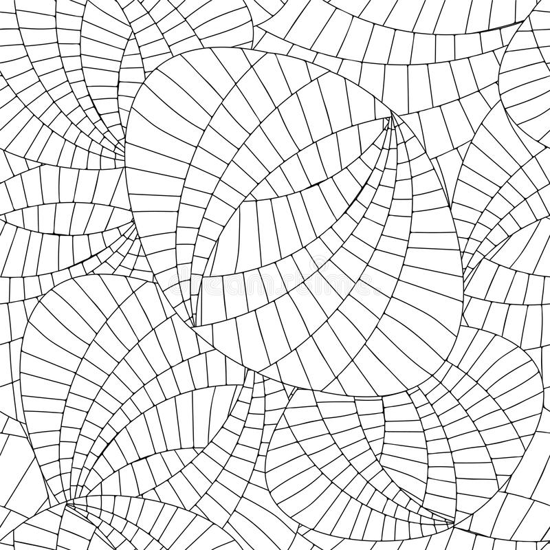 Vector seamless abstract doodle web and wave pattern vector illustration