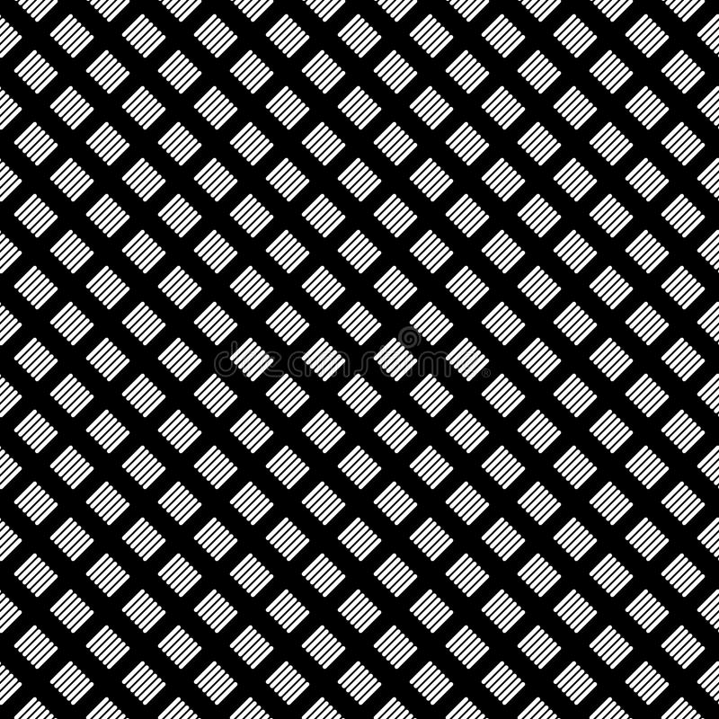 Vector seamless abstract pattern black and white. abstract background wallpaper. stock illustration