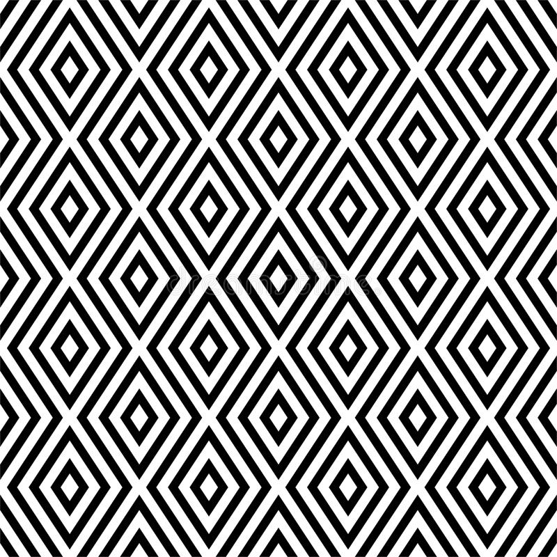 Vector seamless abstract diagonal pattern black and white. abstract background wallpaper. vector illustration. Vector seamless abstract pattern black and white stock illustration