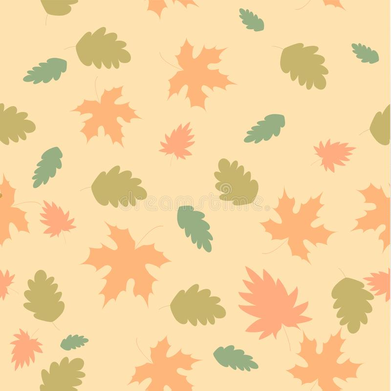 Vector Seamless Autumn Pattern Of Leaves For Book Covers Wallpapers