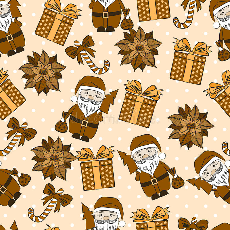 Vector seamless background, Christmas and New Year's vector illustration