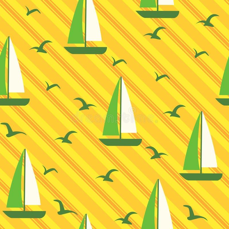 Vector seamless beach background stock illustration