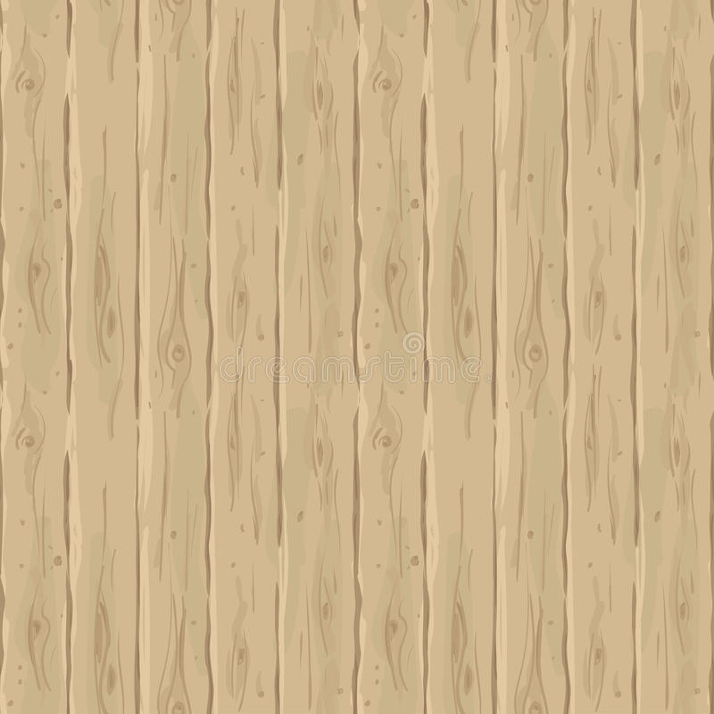 Vector seamless beige fence. Retro texture of the boards. Vintage wooden hand-drawn background. stock illustration