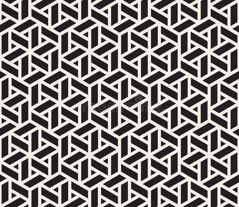 Vector Seamless Black And White Geometric Grid Pattern. Vector Seamless Black And White Grid Pattern. Abstract Geometric Background Design vector illustration