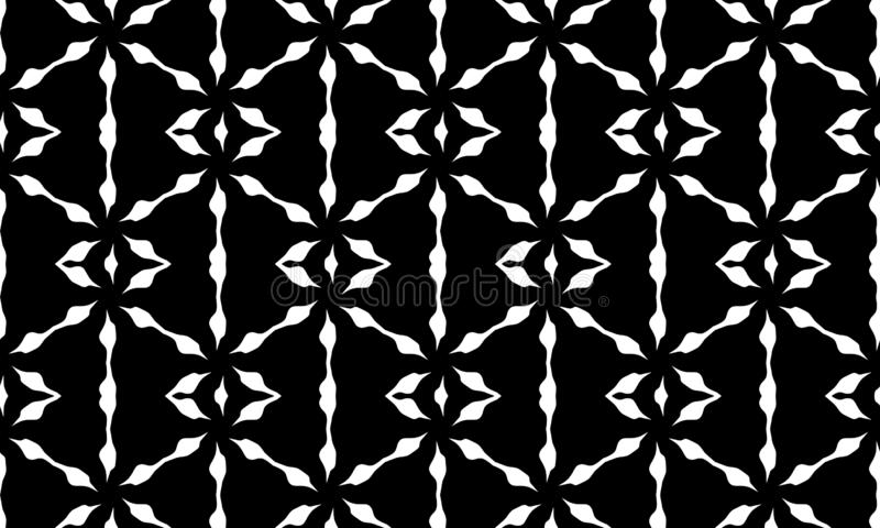 Vector Seamless Black and White Geometric Pattern Background. Design royalty free illustration