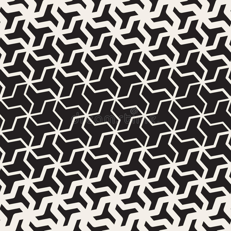 Vector Seamless Black And White Geometric Triangle Shape Tessellation Halftone Line Grid Pattern. Abstract Background vector illustration