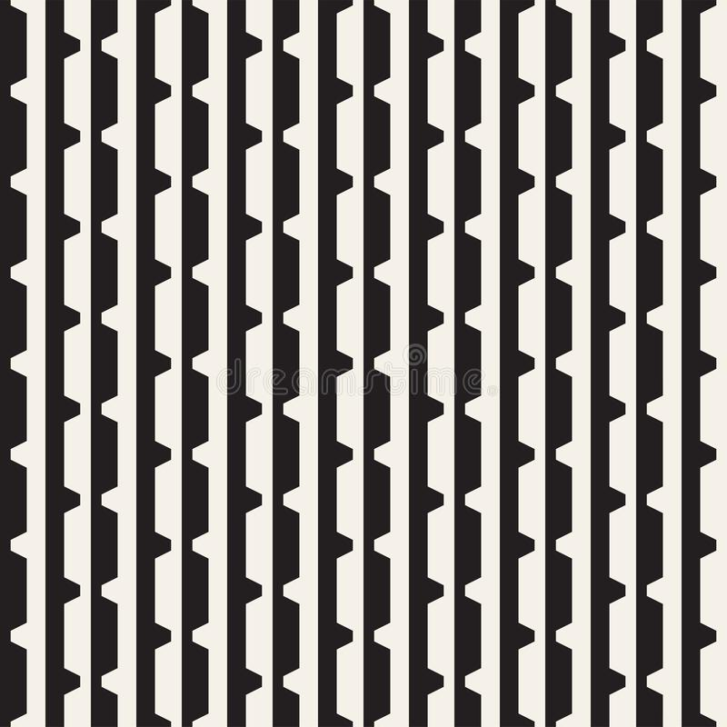 Vector seamless black and white halftone lines grid pattern. Abstract geometric background design. royalty free illustration