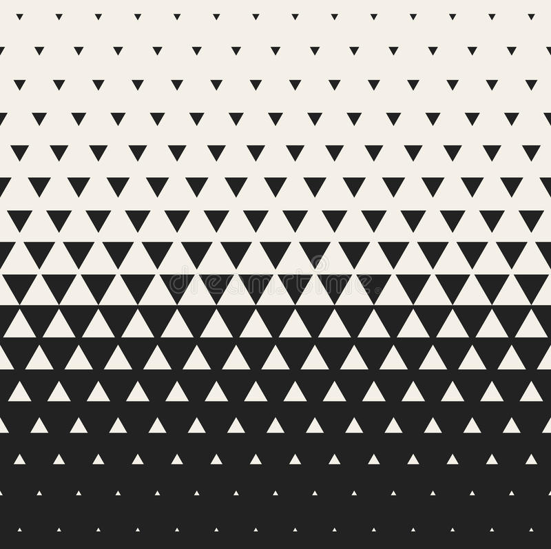 Vector Seamless Black and White Morphing Triangle Halftone Grid Gradient Pattern Geometric Background vector illustration