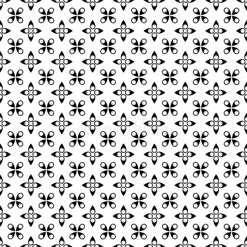 Vector Seamless Black and White pin icon pattern Background. Background design with texture, geometric pattern, triangles, star, line and circle shapes in vector illustration