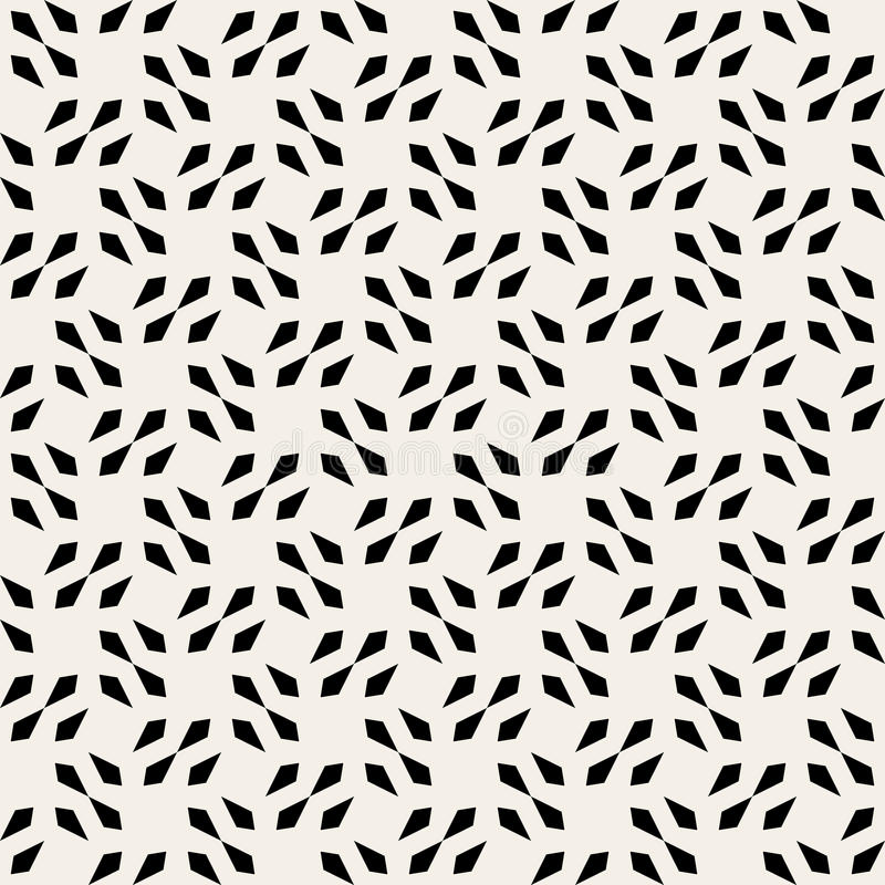 Vector Seamless Black And White Square Arrow Head Shape Geometric Pattern vector illustration