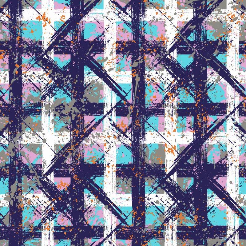Vector seamless bold plaid pattern royalty free illustration