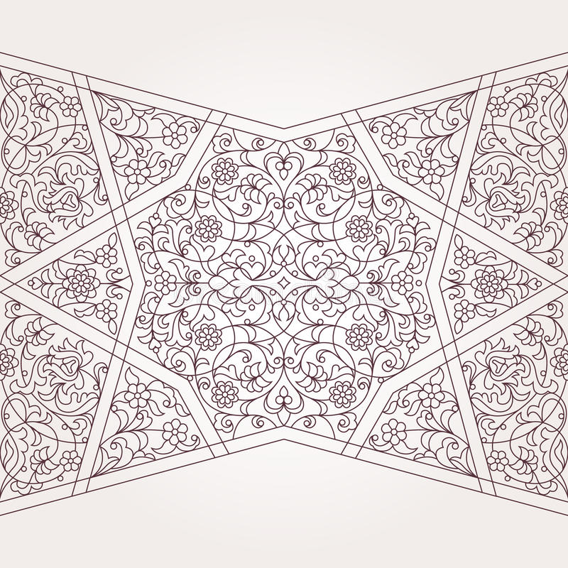 Free Vector Seamless Border In Middle Eastern Style. Royalty Free Stock Images - 74137909