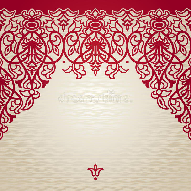 Vector seamless border in Victorian style. royalty free illustration