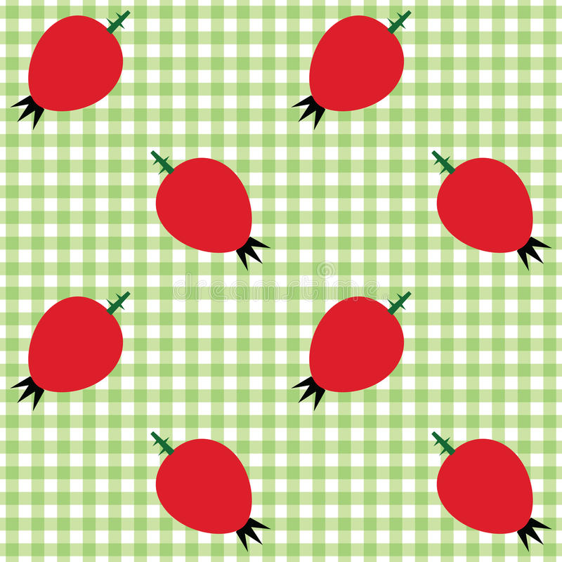 Download Checked Pattern With Rose Hip Stock Vector - Image: 30205565