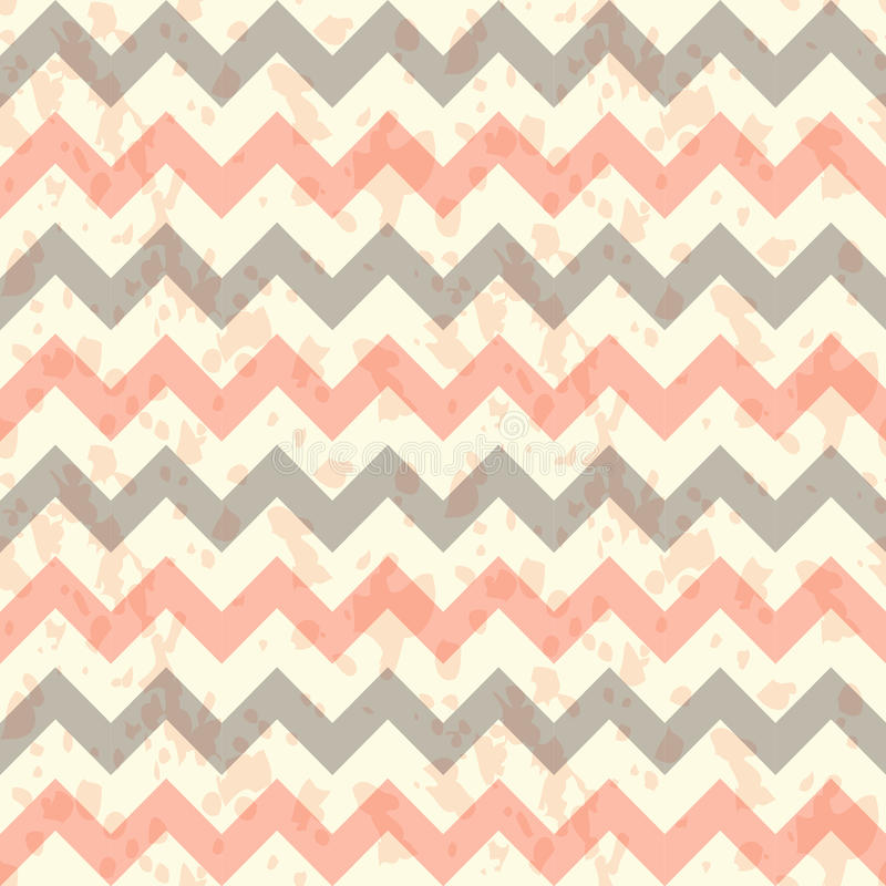 Vector Seamless chevron pattern on linen turquoise royalty free illustration