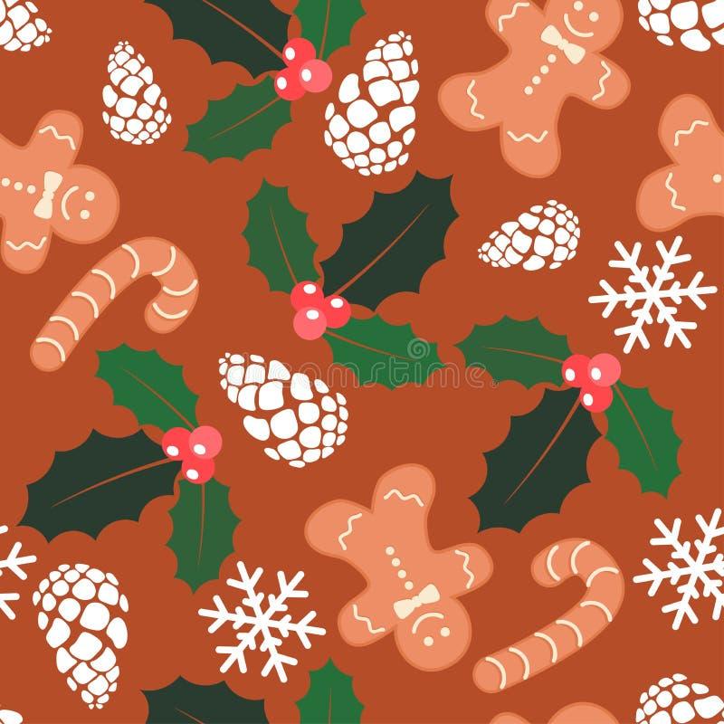 Vector seamless christmas  background stock illustration