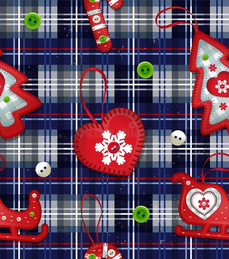 Vector seamless Christmas pattern. New year dark royalty free illustration